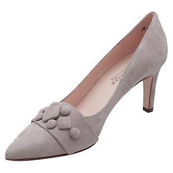 Peter Kaiser Edine Grey Suede Pointed Toe High Heel Court Shoe