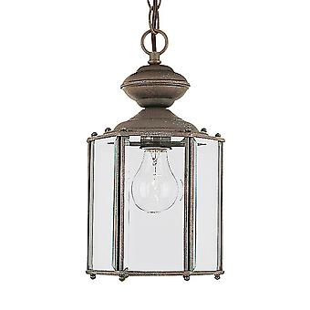 Sea Gull Lighting 6008-26 Classico 1- Light Outdoor Pendant Sienna Finish