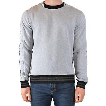 Philipp Plein Ezbc428029 Men's Grey Cotton Sweatshirt