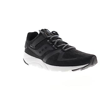 Saucony Grid 9000 Mod Mens Black Canvas Lace Up Athletic Running Shoes