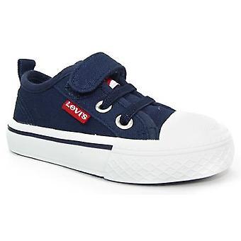Levis Maui Mini Canvas Shoes Navy Blue