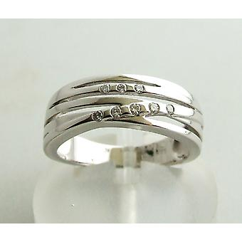 White gold Christian ring with diamonds