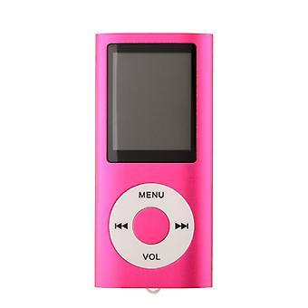 FMラジオサポート付きスリムMP3プレーヤー - ピンク