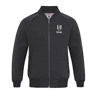 Fulham FC Official Football Gift Boys Retro Varsity Baseball Jacket