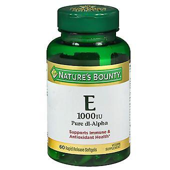 Nature's bounty e, 1000 iu, pure dl-alpha, softgels, 60 ea