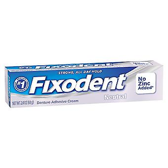 Fixodent denture adhesive cream, neutral, 2.4 oz