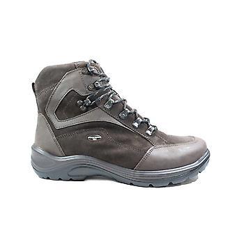 Waldläufer Jared Hayo 415900 302 216 Brown Nubuck Leder Mens Lace Up Walking Enkellaarzen