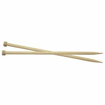KnitPro Basix Bjørk: Strikkepinner: Enkeltslutt: 30cm x 5.00mm