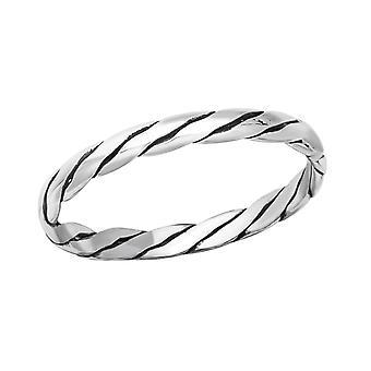 Touw - 925 Sterling Zilver platte ringen - W37851x