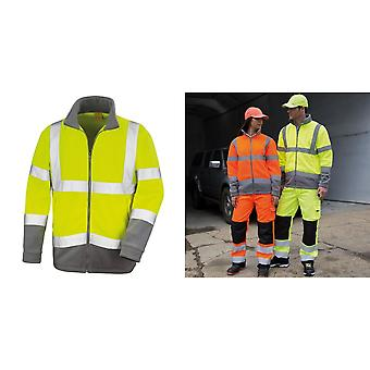 Result Core Mens Reflective Safety Micro Fleece Jacket