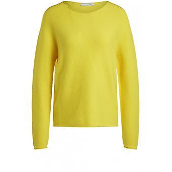 Oui Yellow Knit Jumper