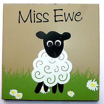 Miss Ewe Sheep Coaster