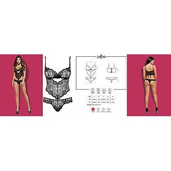 الهوس الملابس الداخلية & أبوس;Alluria & Underwired الأسود الدانتيل تيدي [المملكة المتحدة 8-16][ الولايات المتحدة الأمريكية 6-14][...