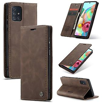 Retro Wallet Smart for Samsung A71 Brown