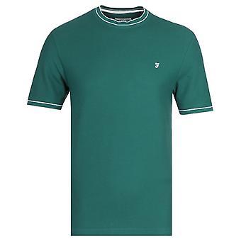Farah Liverpool Modern Fit Honeycomb Power Hides Green T-Shirt
