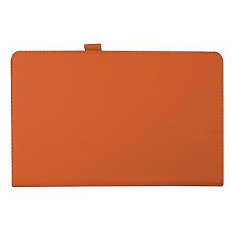 "Magnetic PU Leather Case for Samsung Galaxy Tab E T560 9.6""[Orange]"