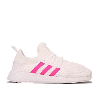 Girl's adidas Originals Infant Deerupt Runner Trainers in White