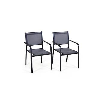 Alu Chair Tex B, 2 stuks - antraciet