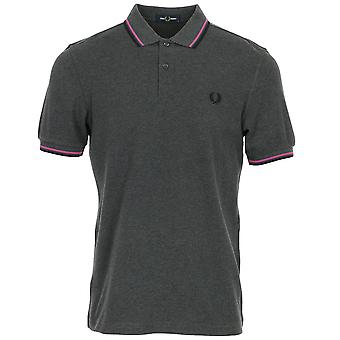 Fred Perry Twin getipt FP Grey Shirt Polo