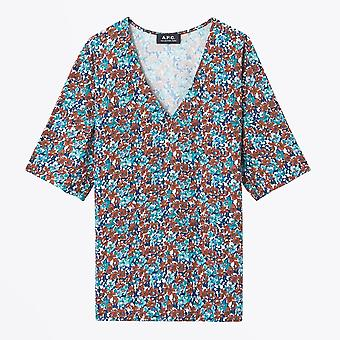 A.P.C. - Lina Floral Blouse - Red