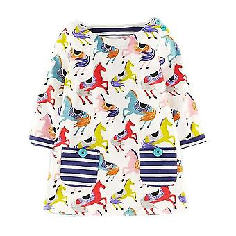 Long Sleeve Princess Tunic Jersey Dress, Horses Design, Infant