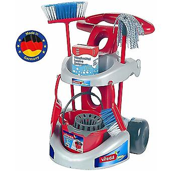 Theo klein vileda cleaning trolley with accessories includes mop bucket and