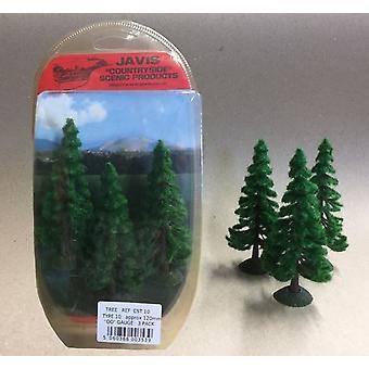 Countryside Trees Type 10 - 3 x 120mm OO Gauge