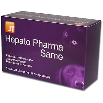 JTPharma Ergänzung für Hunde und Katzen Hepato Pharma Gleiche 60 Tabletten
