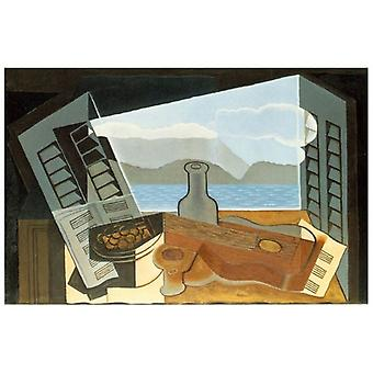 Print on canvas - The Open Window - Juan Gris - Painting on Canvas, Wall Decoration