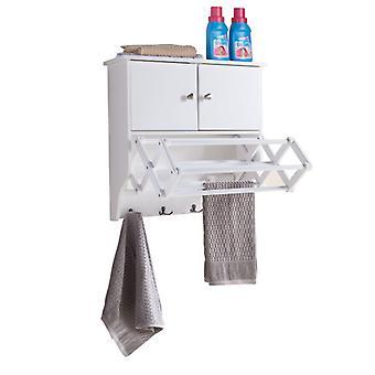 BQ1082, Danya B. Accordion Wall Mount Drying Rack con cabinet