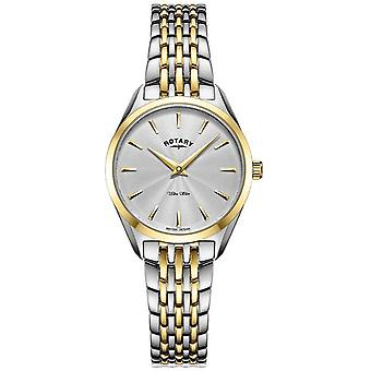 Rotary Ultra Slim Ladies Two Tone Bracelet LB08011/02 Watch
