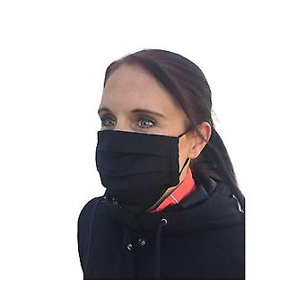Face Mask For Adults In Black Fabric, Washable