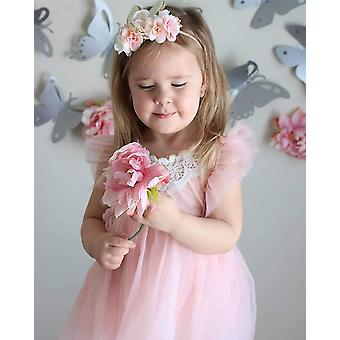 2Bunnies Girl Baby Girl Adjustable Strap Tie Back Lace Tulle Tutu Birthday Pa...