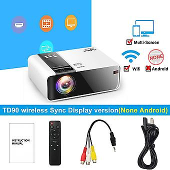 Hd Mini Projector Td90 Native 1280 X 720p Led Android/wifi Video Home Cinema & 3d Hdmi Movie Game Proyector