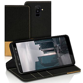 Mobilfordral Jeans for Samsung Galaxy A6+ (2018) LeatherEtte Card Holder Phone