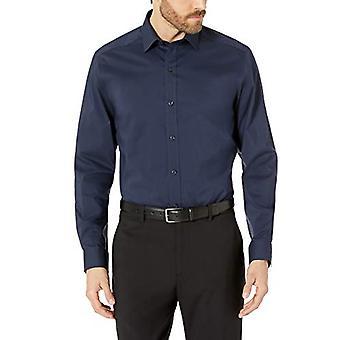 BUTTONED DOWN Miehet&s Tailored Fit Tech Stretch CoolMax Helppo hoito mekko paita, Navy, 15&Neck 34&-35&Hiha