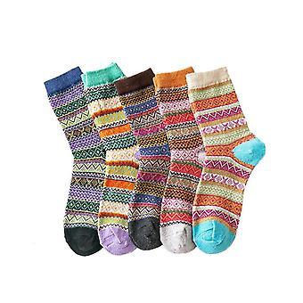 5-p bas d'hiver tricotés, pour les femmes, une taille