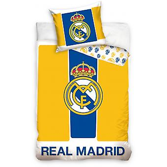 Couette couverture Real Madrid logo jaune 160 x 200 cm