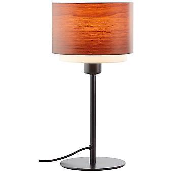 LUZ interior de madera de madera de la madera de LAyne, lámparas de mesa, -decorativas 1x D45, E14, 42W, adecuado para