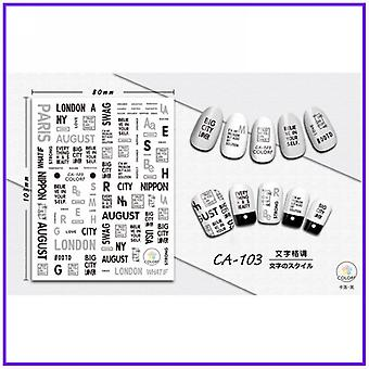 1 Pc 3d Nail Slider Sticker -decals Flamingo Design Adhesive Manicure, Tips