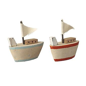 Nautical Inspired Boat Decorations Set of 2 By Heaven Sends