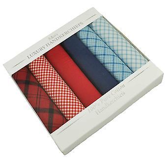 Kravaty Planet 100% Bavlna Pánske & s Vreckovka 6-pack Set - Červená a modrá Skontrolovať