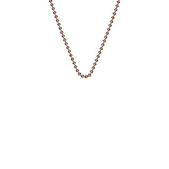 """Emozioni 16-18"""" Rose Gold Plated Silver Bead Chain CH007 Emozioni 16-18"""" Rose Gold Plated Silver Bead Chain CH007"""