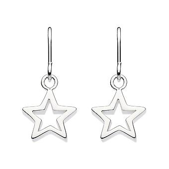 Dew Sterling Silver Chunky Star Drop Boucles d'oreilles 58010HP027