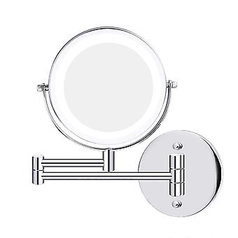 """Led Double-sided Magnifying Makeup Mirror,360 °  6.7"""" Diameter 1x/5x"""