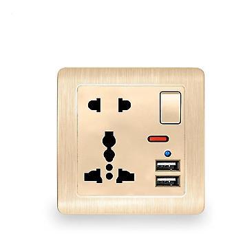 2.1a المزدوج USB ميناء المملكة المتحدة مقبس الطاقة الجدار، العالمي 5 منفذ حفرة