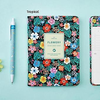 Floral Flower Schedule Book Diary, Weekly Planner, Notebook For School, Office