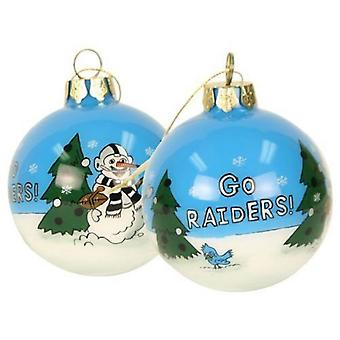Oakland Raiders NFL Hand Painted Ornament