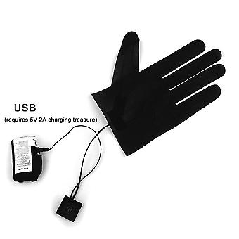 New Five-finger Gloves Usb Electric Heating Pads Lithium Battery Power Supply