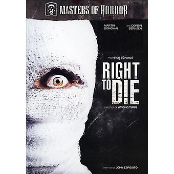 Meister des Horror-Recht zu sterben [DVD] USA import